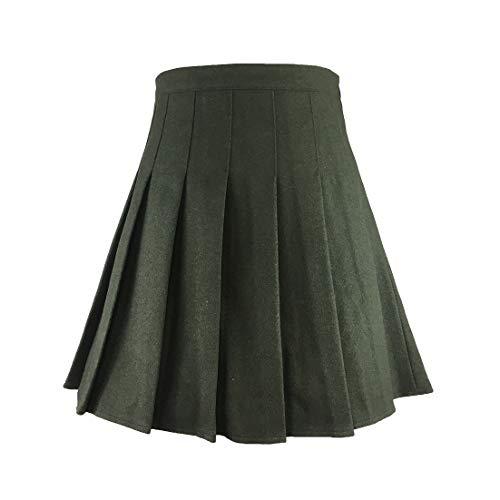 Hoerev vrouwen meisjes veelzijdig Plaid geplooide rok met korte broek voor koud weer