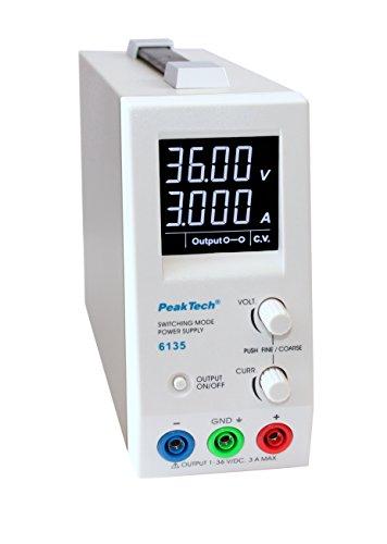 PeakTech preciso 100W DC de laboratorio Red dispositivo 36V/3A con 1mA y 10MV Resolución, 1pieza, P 6135