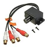 Controlador de volumen - SODIAL(R)Perilla de controlador de volumen de amplificador de audio RCA de bajo nivel de ganancia de casa y coche LC-1 negro