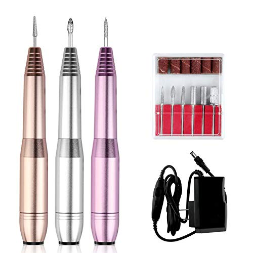 Nail Drill Electric Nail Files 20000RPM For Beginners,Compact Electric Nail Drill Machine With Sanding Bands And Nail Drill Bits,USB Portable Electric Nail Drill Kit For Acrylic Nails And Gel Nails