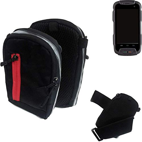 K-S-Trade® Outdoor Gürteltasche Umhängetasche Für Cyrus CS 23 Schwarz Handytasche Case Travelbag Schutzhülle Handyhülle