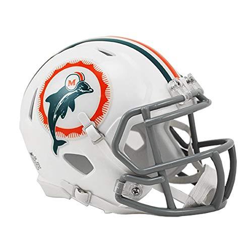 Riddell Miami Dolphins NFL Revolution Speed Mini Football Helmet 1966 Anniversary