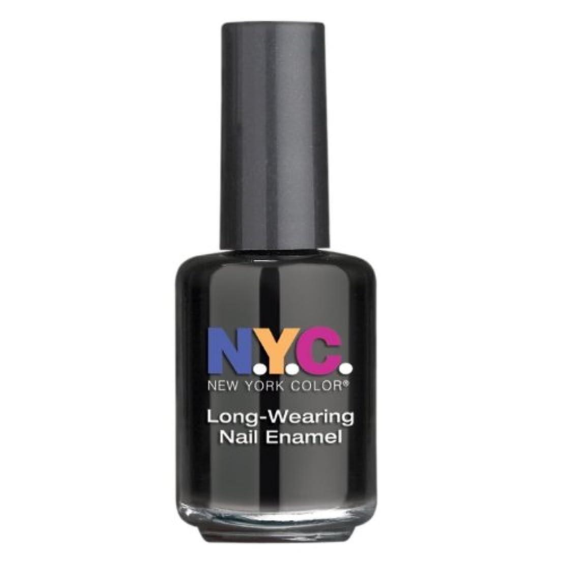 初心者について連続的NYC Long Wearing Nail Enamel - Black Lace Creme (並行輸入品)