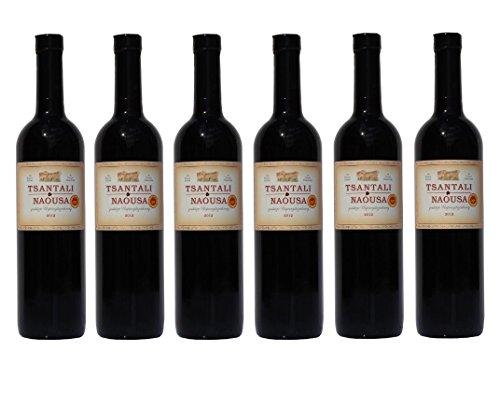 6x Tsantali Naousa Rotwein Naoussa trocken je 750ml + 2 Probier Sachet Olivenöl aus Kreta a 10 ml - griechischer roter Wein Rotwein Griechenland Wein Spar Set