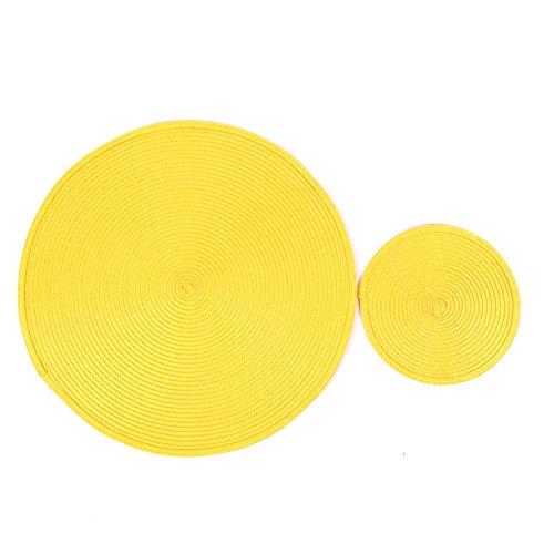 MZXUN INS Ronda Tejida PP Individuales Impermeable Mesa de Comedor alfombras Antideslizantes Vajilla Tazón de ratón Beba Suministros Taza del Partido de Cocina Posavasos