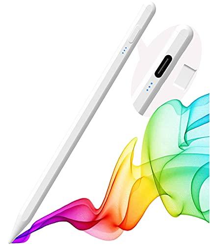2021 Upgrade Stylus Stift für iPad,Stylus Pen mit Stromanzeige,Palm Rejection,Anti-Tilt,Magnetische Stift für iPad 2021-2018,1.2mm Aktiv Pencil für iPad Pro 11/12.9,iPad 6/7/8,iPad Mini 5,iPad Air 3/4