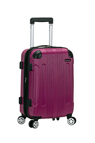 Rockland London Hardside Spinner Wheel Luggage, Magenta, Carry-On 20-Inch