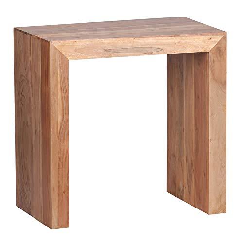FineBuy Tavolino Legno Massello Acacia 60 x 60 x 35 cm | Tavolo Soggiorno Stile Country | Tavolo Divano Prodotto Naturale | Tavolino da caffè Rettangolare