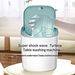 Delaspe - Lavadora ultrasónica turbo (lavadora) portátil con alimentación USB, apta para viajes de camping (azul)
