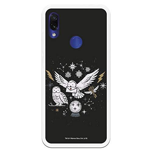 Funda para Xiaomi Redmi Note 7-Note 7 Pro Oficial de Harry Potter Lechuzas Silueta para Proteger tu móvil. Carcasa para Xiaomi de Silicona Flexible con Licencia Oficial de Harry Potter.