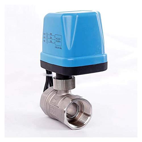Neue Edelstahl-Motor Zwei-Wege-Ventil Zwei Wasserlinie Globe Normally Open Thick Schließen 12V 24V 220V Magnetkugelhahn Einfach zu bedienen (Specifica : AC220V DN20 CR03)