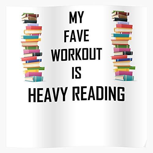 Bookworm Nerdy Books Fitness Geeky Book Geek Nerd Bookish Merch Impresionantes carteles para la decoración de la habitación impresos con la última tecnología moderna sobre papel semibrillante