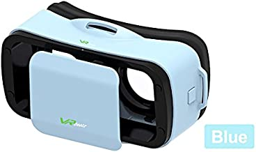 VR Headset V3 - Deep Immersive Virtual Reality Experience on 3D Movies & Games, Mini Compact Light Weight & Comfortable, fits iPhone Samsung Galaxy