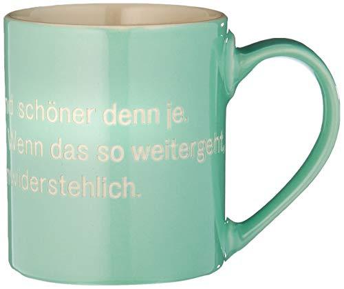 Astrid Lindgren-Helden Becher grün: mit Pippi-Illustration im Becherboden