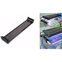 takestop-LED900-15-W-weies-Licht-Blau-Lunare-Deckenleuchte-ausziehbar-90--100-cm-Pflanzen-Fische-Aquarium-Dolce-Gesalzene-Rand-Schale