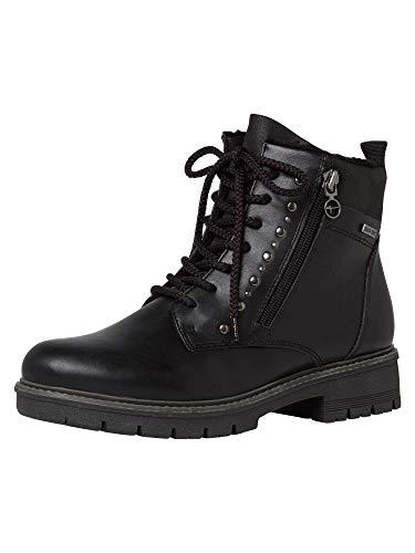 Tamaris Women Boots, Ladies Lace-up Boots,Combat Boots,Lacing,Black,36 EU / 3.5 UK