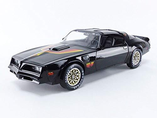 1977 Pontiac Firebird Trans Am T/A Fire Am by Very Special Equipment (VSE) Black with Hood Bird 1/18 Diecast Model Car by Greenlight 19080