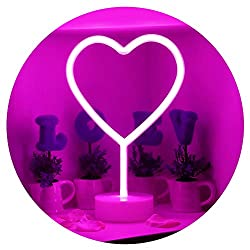 ☆ Aestheticism style neon light that's shaped like a love heart. Marvel at the beauty of this neon night light! ☆ Set up in seconds - just slot the light unit into the powered base and you're ready to go. ☆ Product Size is 30.5cm/12inches tall and 20...