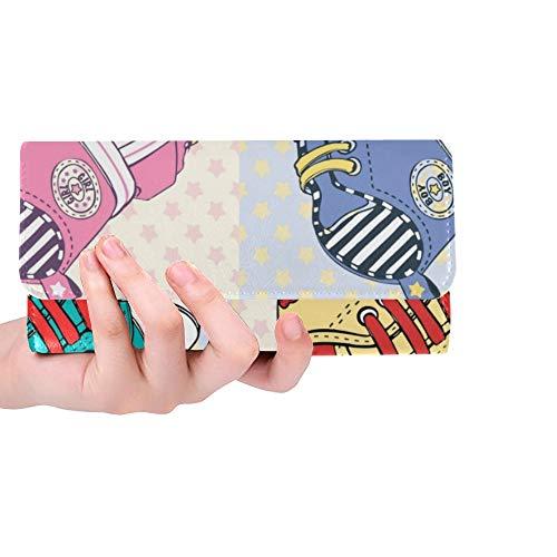 RFID Blocking Purse Herren Brieftasche Kartenhalter Sportschuhe Casual Style Visitenkartenhalter Brieftasche Trifold Leder Kartenhalter Brieftasche Frauen Kreditkarteninhaber Fall Handtasche