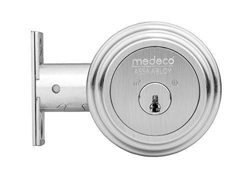 Medeco 11R603 BiLevel M3 Single Cylinder Deadbolt 2-3/8″ Backset (Satin Chrome) - Residential