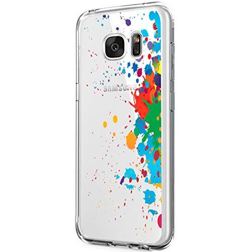 Custodia per Galaxy S6 Edge Plus Cover Ultra Slim TPU Crystal Clear Morbido Copertura Anti-Scratch Antigraffio Silicone Protettivo Shell Case posteriore per Samsung Galaxy S6 Edge Plus (pigmento)