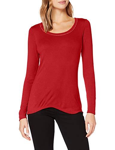 Damart Tee Shirt Manches Longues BIOACTIF-58138 sous-vêtement, Rouge Piment, XS Femme