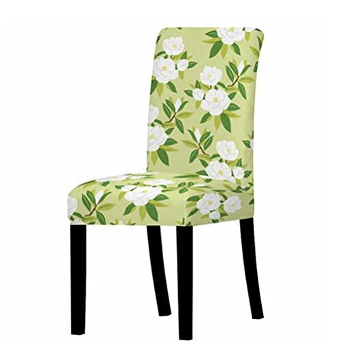 Funda de silla elástica para comedor silla cubierta para silla de oficina banquete silla sillón protector flor estampado