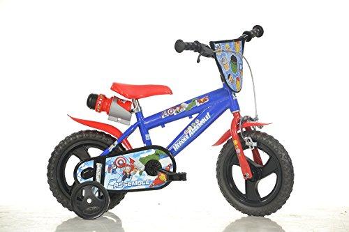 Dino Bikes Marvel Heroes Vélo Garçon sous Licence Avengers 14 Pouces-4 à 6 Ans, 414 U-AV