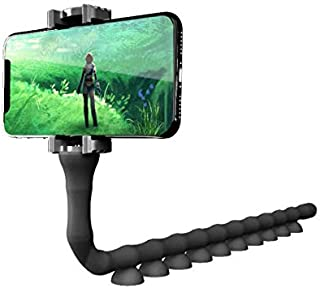 Universal Mobile Phone Stand Flexible Lazy Neck Phone Holder (Black)