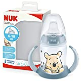 NUK First Choice+ bicchiere antigoccia | 6-18 mesi | Beccuccio in silicone a prova di perdite | Controllo temperatura | Sfiato Anti-Colica | Senza BPA | 150ml | Disney Winnie the Pooh Blu