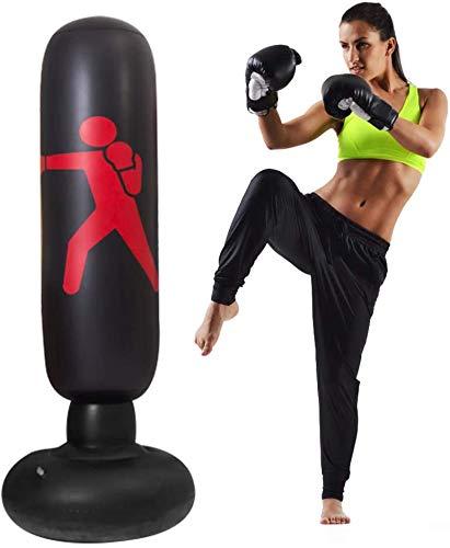 Bluelounge Boxsack stehend, 160CM boxsack stehend kinder für Erwachsene Kinder Jugenbdliche, freistehender Boxspielzeug, -Standboxsack für Sofortiges Zurückprallen zum Üben von Karate,mit Fußluftpumpe