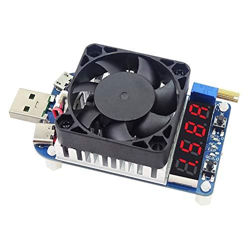電子マルチメータ HD25 HD35 トリガー QC2.0 QC3.0 25W 35W 電子 放電 バッテリー テスト 調整可能 電流 電圧 USB 負荷抵抗 マルチテスターメーター (Color : Multi-colored, Size : HD25)