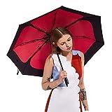 Regenschirme Sonnenschirm Damen Klappschirm Sonnenschirm Sonnenschutz UV Einfache Atmosphäre (Color : Black, Size : 60 * 97 cm)