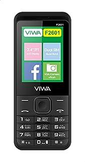Viwa F2601 Dual SIM Mobile, 2.4 Inches, 3G - Black