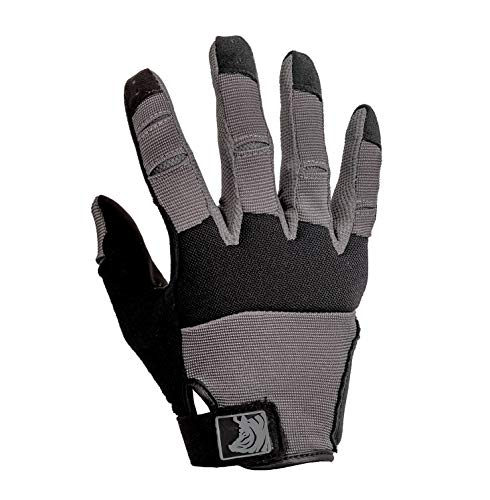 PIG Full Dexterity Tactical (FDT) Alpha Gloves - Full Finger Protection for Shooting Sports (Carbon Grey, Small)