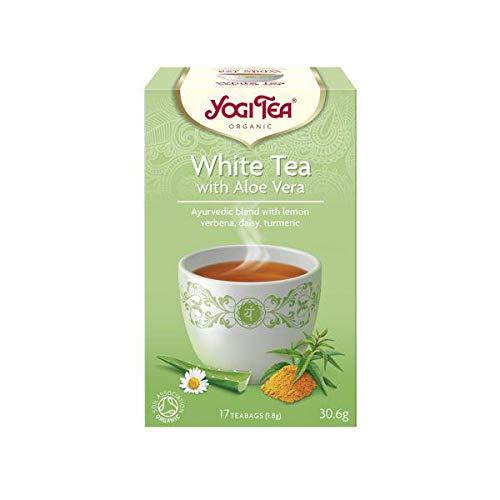 Yogi Tea Original Blanco Aloe Vera Eco, Bolsitas 30 g