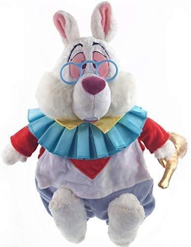 Boufery Anime Alicia en el país de Las Maravillas Conejo Blanco de Peluche, Suave y Lindo muñeco de Peluche, Regalo de cumpleaños para niños 38Cm