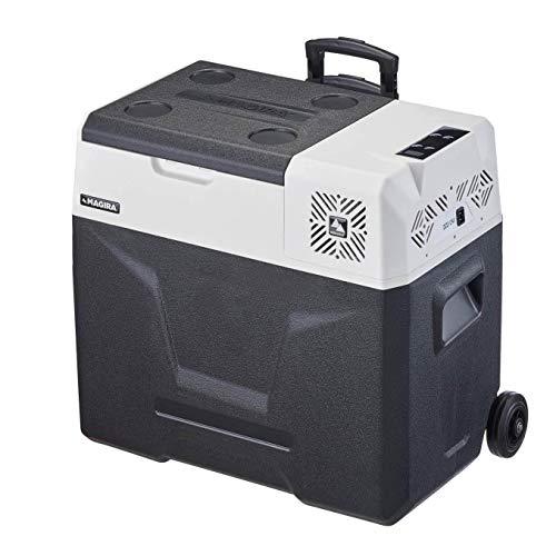 MAGIRA 50 Liter Kompressor-Kühlbox 12/24V und 230V Alaska MF50-C elektrischer Mini-Kühlschrank für Camping, Auto oder LKW mit Steckdose und USB-Anschluss