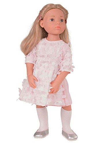 Götz 1766045 Happy Kidz Emma geht zur Sommerparty Puppe - 50 cm große Multigelenk-Stehpuppe, Blonde Haare, steingraue Augen - 9-teiliges Set