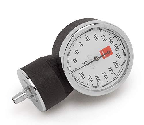 Manómetro AARON® para tensiómetro aneroide. Acabado de primera calidad con caja de acero. Calibrado   Color negro.