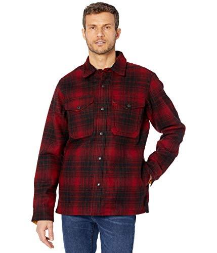 Filson Mackinaw Jac Flannel Shirt Red/Black/Gold LG -  11010788