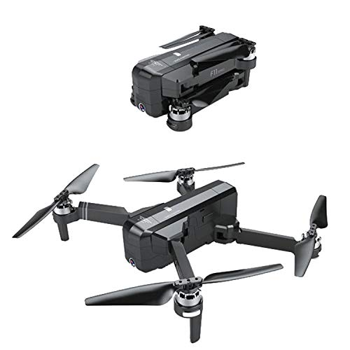 TeasyDay Sjrc Saison F11 Quadrocopter, GPS 5G WiFi FPV 1080P HD Kamera Faltbare Brushless RC Drone Quadrocopter + Rucksack, 25 Minuten Flugzeit, Follow Me Mode, Gesture Foto / Video (Black)