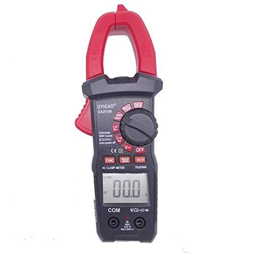 JCMY Multímetro Digital Pantalla UA2019B Multifuncional Digital de Mano multímetro DC Voltaje AC Current Clamp Meter for los Instrumentos y Laboratorios Medición de Voltaje, Corriente y Resistencia.