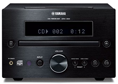 Yamaha CRX-332 2.0Kanäle Stereo Schwarz - AV-Receiver (2.0 Kanäle, Stereo, 20 W, 0,04%, Polklemme, Verkabelt)
