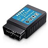 iLC OBD2 OBD Bluetooth Coche Diagnóstico Escáner Herramienta ES OBD2 -Motor Luz Chequear Inálambrico Datos para Smartphone - Compatible con Android & Windows Dispositivo(NO para iPad de Apple iPhone)