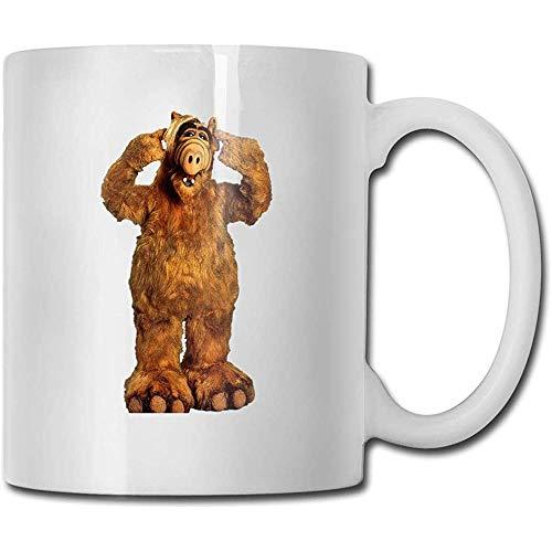 Tassen ALF White Design Lustige Kaffeetasse Tee Cup Geschenk für Fans Ehemann Frau Freundin