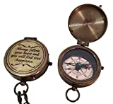collectiblesBuy Handmade Engraved Always Follow Your Heart Quote Directional Magnetic Brass Compass Pocket Navigation for Camping & Hiking