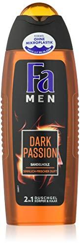 FA MEN 2in1 Duschgel Dark Passion mit Sandelholz und sinnlich-frischem Duft, 6er Pack (6 x 250 ml)