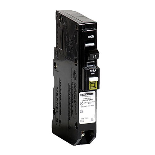 Square D by Schneider Electric QO Plug-On Neutral 15 Amp Single-Pole CAFCI Circuit Breaker