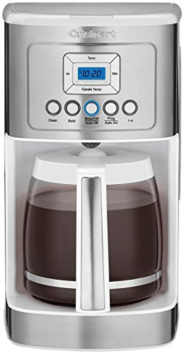 Cuisinart DCC-3200W Perfectemp Coffee Maker, 14 Cup Progammable Coffeemaker with Glass Carafe, White